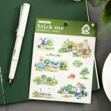 Наклейки /Stick me / деревенские пейзажи