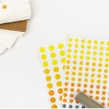 Набор наклеек / Points / желтые