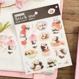Наклейки /Stick me / панды