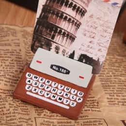 """Подставка для открыток """"Печатная машинка"""" коричневая"""