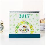 Календарь перекидной 2017, на обложке девочка с цветами