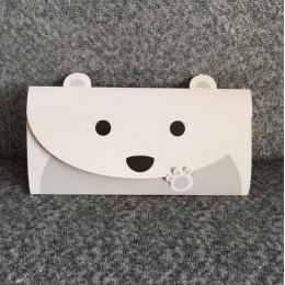 """Конверт-открытка """"Белый мишка"""""""