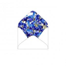 """Конверт """"с богатым внутренним миром"""" var.1, синие цветы"""