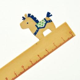 """Линейка """"Лошадка"""" синяя"""