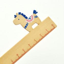 """Линейка """"Лошадка"""" синий+белый"""