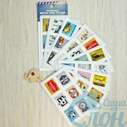 "Наклейки в виде марок ""British wind sticker"""
