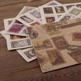 """Наклейки """"Vintage old stamps"""""""