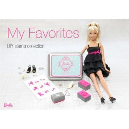 """Набор штампов в жестяной коробочке """"Barbie"""""""