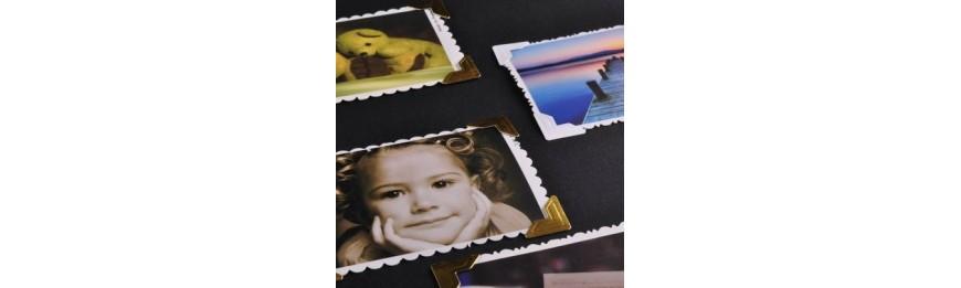 Уголки для фотографий, и фотоальбомы